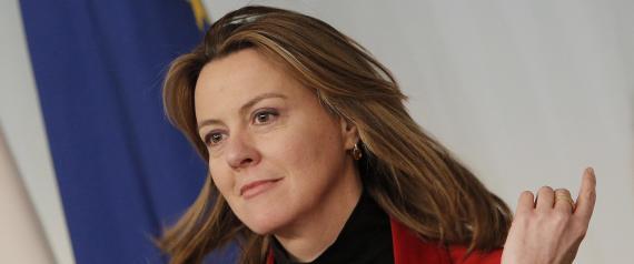 Il Ministro della Salute Beatrice Lorenzin a Palazzo Chigi durante la conferenza stampa dopo il Consiglio dei Ministri, Roma 14 marzo 2014. ANSA/GIUSEPPE LAMI